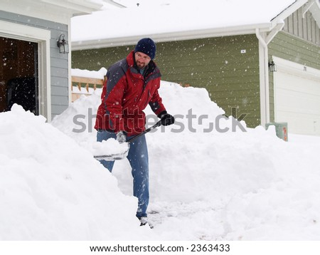 Holiday Blizzard of 2006, Denver, CO - stock photo
