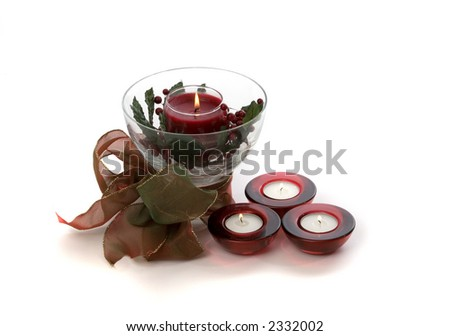Holiday Candle and Three Red Candle