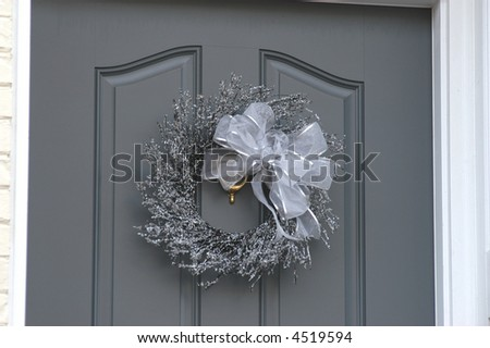 Holiday Decorated Door - stock photo