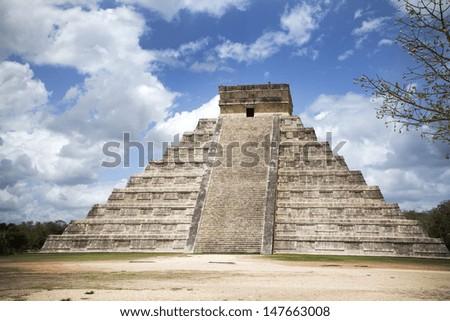 Holiday destination Yucatan Mexico Chichen Itza - stock photo