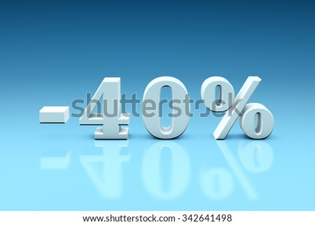 Holiday discounts for the goods and services. Set of discount 3d-images (3000x4500px). - stock photo