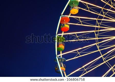 Holiday, Ferris wheel at night - stock photo