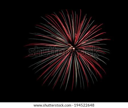 Holiday Firework - stock photo