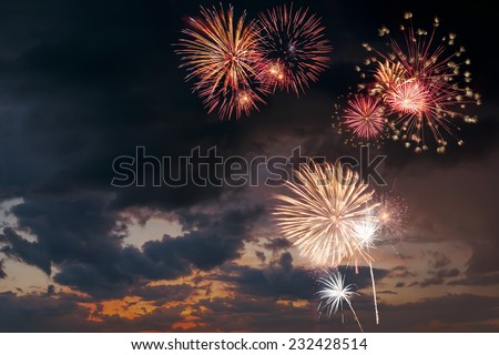 Holiday fireworks - stock photo