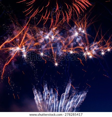 Holiday Fireworks - at 4th of July celebration in the United States