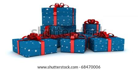 Holiday Gift Box - stock photo