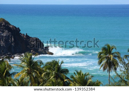 Holiday in Caribbean beach - stock photo