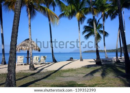 Holiday in Caribbean beach - stock photo