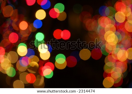 holiday lights - stock photo