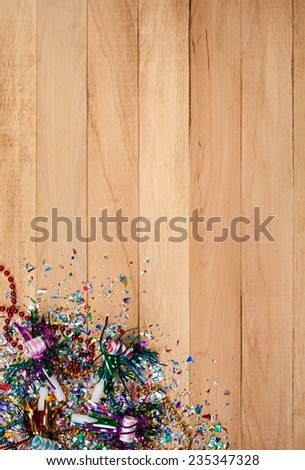 Holiday: New Year's Eve Confetti Background - stock photo