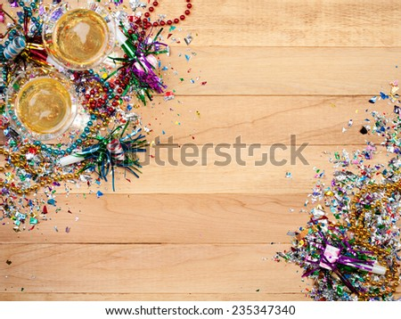 Holiday: New Year's Eve Party Background With Champagne - stock photo