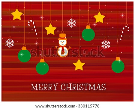 Holiday Ornaments - Merry Christmas  - stock photo