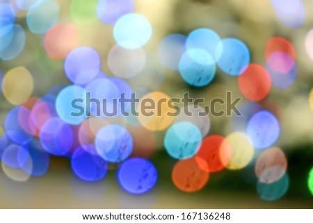 holiday rainbow lights diversity, carnival details - stock photo