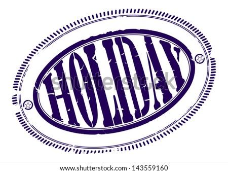 Holiday rubber stamp. One color, place for your text on the outskirts - stock photo