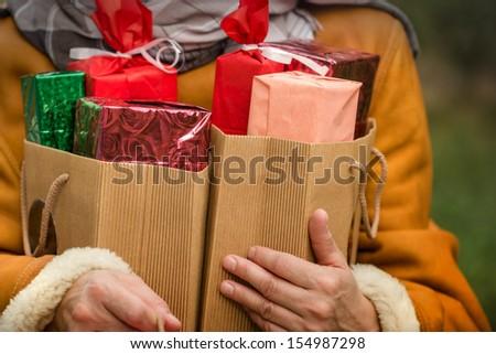 Holiday shopping - holiday sale - stock photo