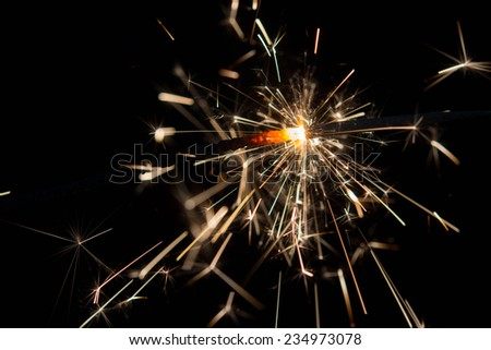 holiday sparkler  - stock photo