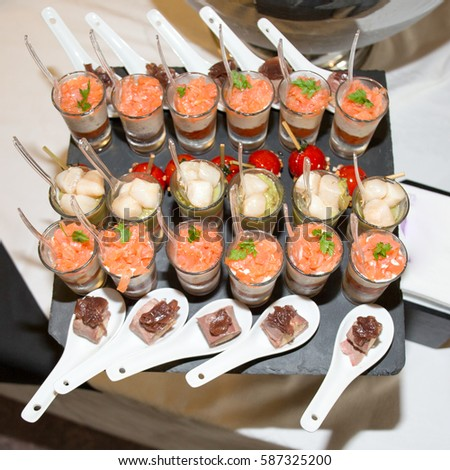 Holiday starter platter fish appetizers party stock photo for Christmas fish starters