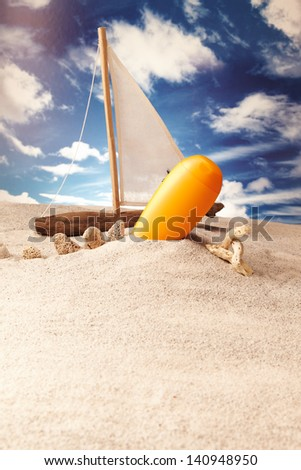 Holiday, summer, beach Background