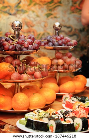 holiday table - stock photo