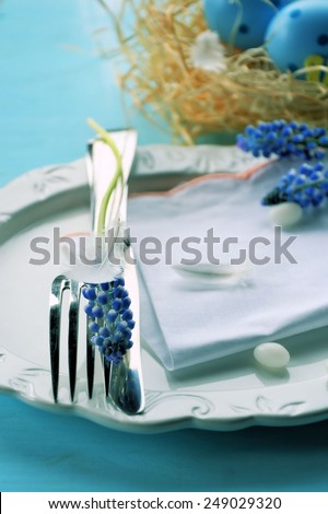 Holiday table set