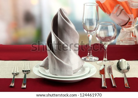 holiday table setting at restaurant