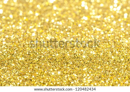 Holiday yellow shiny background. Blurry lights in yellow colors - stock photo