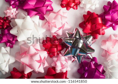 Holidays decorative bows for gifts. - stock photo