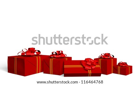 holidays gift box - stock photo