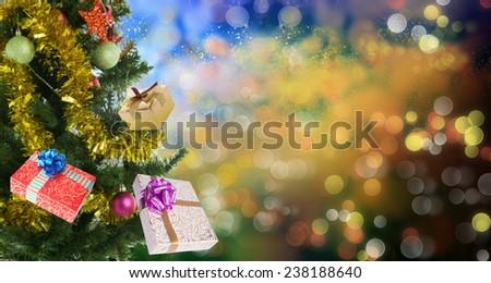 Holidays New Year Tree.MerryChristmas - stock photo