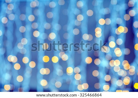 holidays, party and celebration concept - blurred golden lights background - stock photo