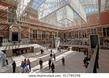 Holland, Amsterdam, 28 April 2016 : inside view Rijksmuseum in Amsterdam