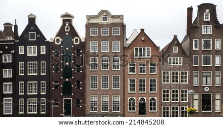 Holland, Amsterdam, the city's architecture, old houses