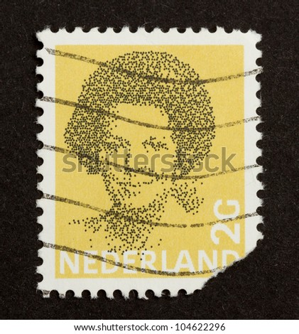 HOLLAND - CIRCA 1990: Stamp printed in the Netherlands shows the queen (Beatrix), circa 1990