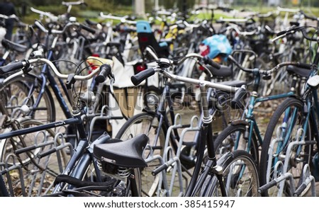 Holland, Volendam (Amsterdam); 9 October 2011, bicycles parking - EDITORIAL