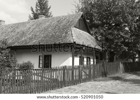 HOLLOKO HUNGARY 1 OCT 2016: Holloko, a traditional living village in Hungary, also a UNESCO World heritage site. Tourists are coming all over from the world to witness the 1800 s European lifestyle.