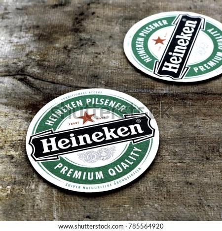 Beer Mats From Heineken Lager
