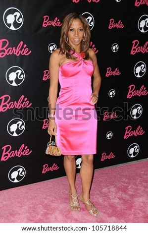 Holly Robinson Peete  at Barbie's 50th Birthday Party. Barbie's Real-Life Malibu Dream House, Malibu, CA. 03-09-09 - stock photo