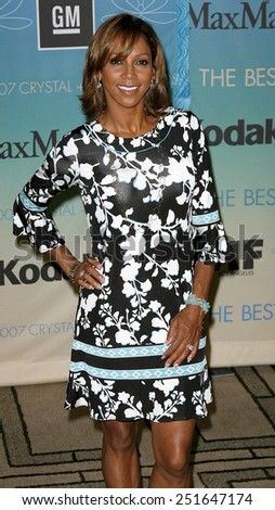 Holly Robinson-Peete attends Women In Film Presents The 2007 Crystal and Lucy Awards held at the Beverly Hilton Hotel in Beverly Hills, California, California, on June 14, 2006. - stock photo