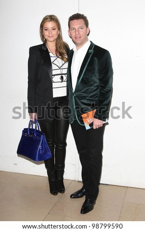 Holly Valance and Nick Candy arriving for the Matthew Williams AW 2012 show during London Fashion Week. 19/02/2012 Picture by: Simon Burchell / Featureflash