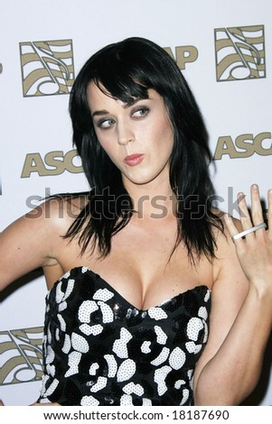 HOLLYWOOD - 9 APRIL: Katy Perry at the ASCAP Awards held at the Kodak Theater in Hollywood - 09 April 2008 - stock photo