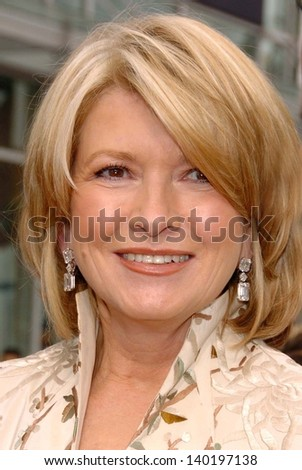 HOLLYWOOD - APRIL 28: Martha Stewart at The 33rd Annual Daytime Emmy Awards at Kodak Theatre on April 28, 2006 in Hollywood, CA.