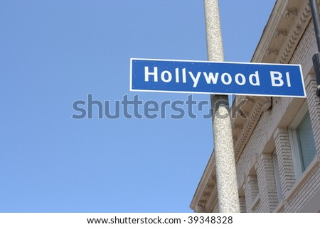 Hollywood boulevard sign in los angeles, california - stock photo