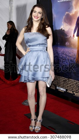 HOLLYWOOD, CA - DECEMBER 07, 2009: Rachel Weisz at the Los Angeles premiere of 'The Lovely Bones' held at the Grauman's Chinese Theater in Hollywood, USA on December 7, 2009. - stock photo