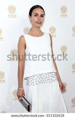 HOLLYWOOD, CA-JUN 1: Actress Jordana Brewster attends the 2014 Huading Film Awards at The Montalban on June 1, 2014 in Hollywood, California. - stock photo