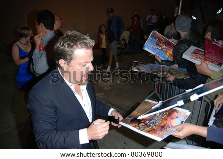"HOLLYWOOD, CA- JUNE 18: Actor Eddie Izzard attends the Disney's Pixar ""Cars 2"" premiere, held at El Capitan Theatre, June 18, 2011 in Hollywood,CA. - stock photo"