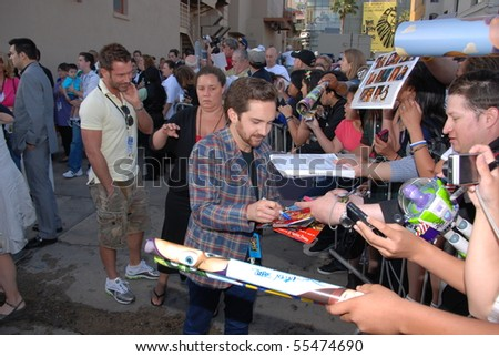 HOLLYWOOD, CA - JUNE 13: Actor John Morris at the World Premiere of Disney/Pixar's 'Toy Story 3' on June 13, 2010 at the El Capitan Theatre in Hollywood, California. - stock photo
