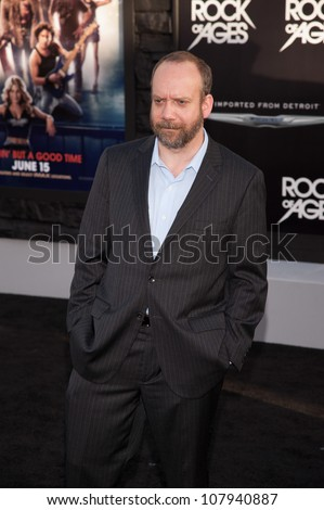 HOLLYWOOD, CA - JUNE 08: Actor Paul Giamatti arrives at the 'Rock of Ages' Los Angeles premiere held at Grauman's Chinese Theatre on June 8, 2012 in Hollywood, California.