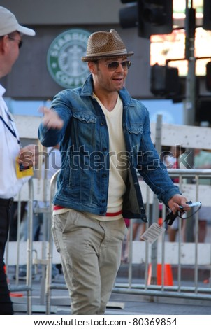 "HOLLYWOOD, CA- JUNE 18: Actor/singer Joey Lawrence attends the Disney's Pixar ""Cars 2"" premiere, held at El Capitan Theatre, June 18, 2011 in Hollywood,CA. - stock photo"