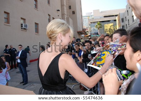 HOLLYWOOD, CA - JUNE 13: Actress Chelsea Staub at the World Premiere of Disney/Pixar's 'Toy Story 3' on June 13, 2010 at the El Capitan Theatre in Hollywood, California. - stock photo
