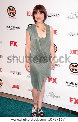 HOLLYWOOD, CA - JUNE 26: Allison Mack arrives at FX Summer Comedies party at Lure on June 26, 2012 in Hollywood, California.